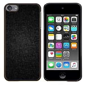 EJOOY---Cubierta de la caja de protección para la piel dura ** Apple iPod Touch 6 6th Touch6 ** --Negro Fondo Gris Estructura patrón de la tela
