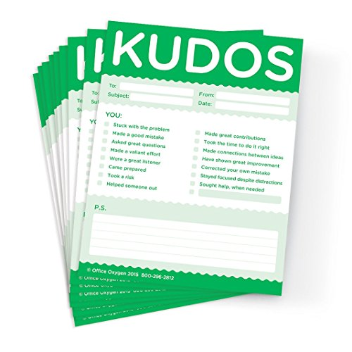 Kudos for Growth & Learning - Note Pad Set of 10 pads (GREEN)