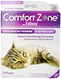 Comfort Zone with Feliway Diffuser Kit for Cat Calming, 1 Diffuser and 1 Pack