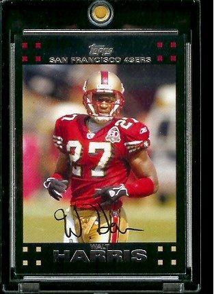 2007 Topps Football # 241 Walt Harris - San Fransico 49er'S - NFL Trading Cards