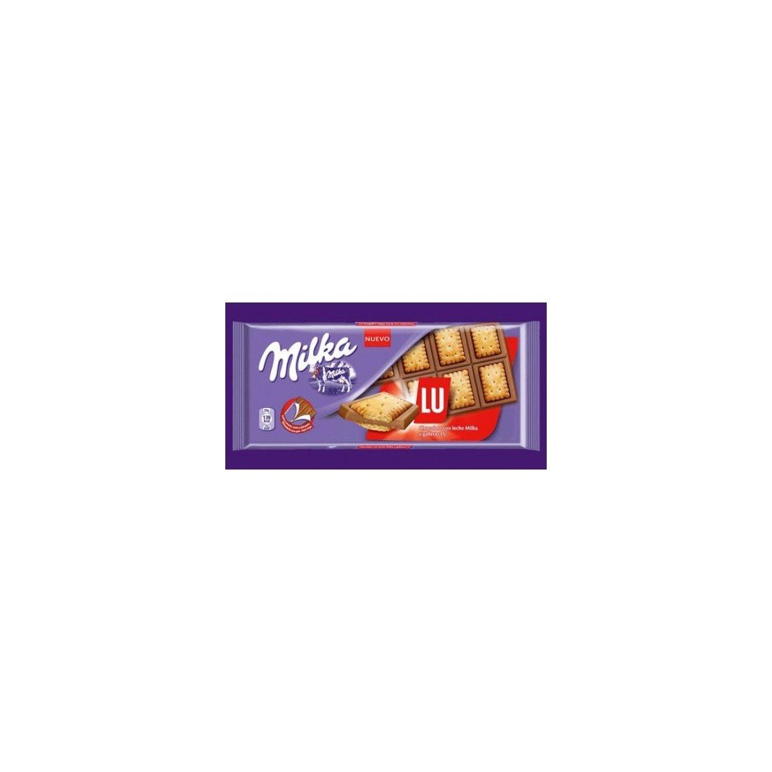 Milka Chocolate con Galletas LU - 35 gr: Amazon.es: Alimentación y bebidas