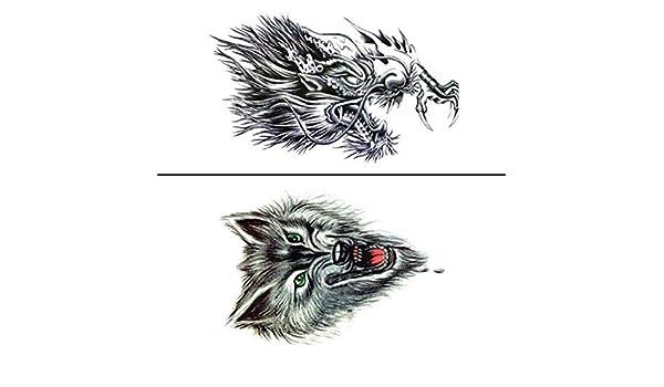 Pecho sobre el hombro dragón grifo lobo unicornio águila tigre ...
