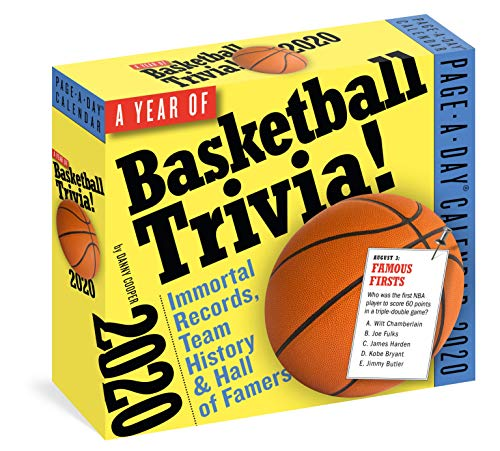 A Year of Basketball Trivia! Page-A-Day Calendar 2020: Immortal Records, Team History & Hall-Of-Famers por Danny Cooper,Workman Calendars