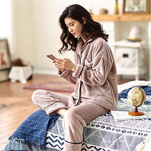 Camisones Vellón Ropa A Gruesa Más Rebeca Solapa Pijamas Calidad Mujer Noche Invierno Cálida Minimalista Olliuge Dulce Coral Conjunto De Terciopelo Dormir Franela qxwEAwvY
