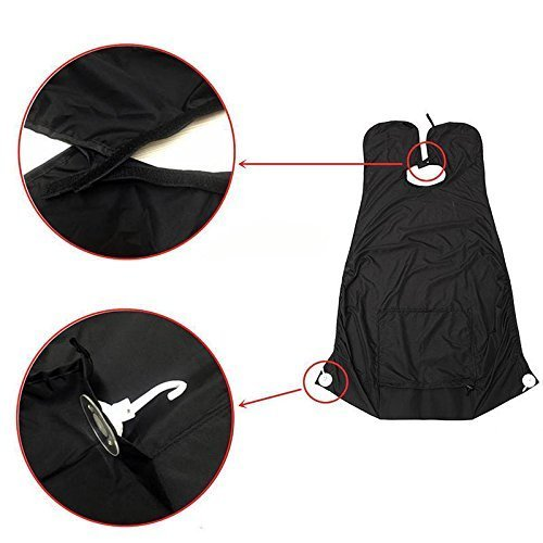 beard catcher mustache beard hair trimmer apron beard bid capes bag mens bathroom facial shaving. Black Bedroom Furniture Sets. Home Design Ideas