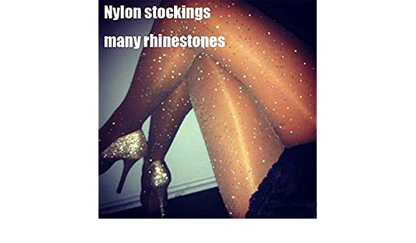 Amazon.com: SaveStore Women Stocking Sexy Shiny Tights with Crystals Bling Rhinestones Transparent Pantyhose Party Hosiery Sexy collant Femme: Kitchen & ...