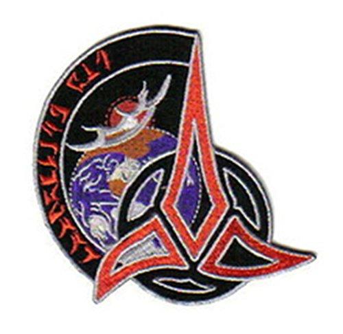 "Athena Star Trek Klingon Trifoil 4"" Embroidered Sew/Iron-On Patch Applique"