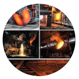 alfombrilla de ratón conjunto de imágenes de la industria metalúrgica - ronda - 20cm