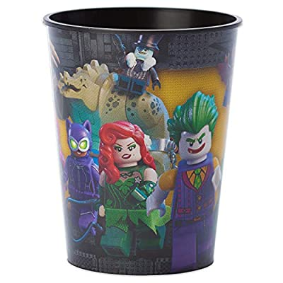 American Greetings Lego Batman Party Supplies, Reusable 16 oz. Plastic Party Cup, 1-Count: Toys & Games