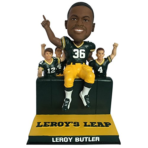LeRoy Butler Green Bay Packers Limited Edition - Individually Numbered to 1,000 Bobblehead - Lambeau Leap