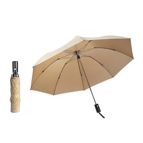 Paraguas Full-Automatic Umbrella3 Paraguas Plegable KAZbrella 3 Plegable Grande Viento Resistance (Amarillo)