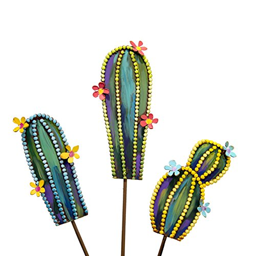 (The Round Top Collection Fairytale Cactus Minis, Set of 3/Metal )