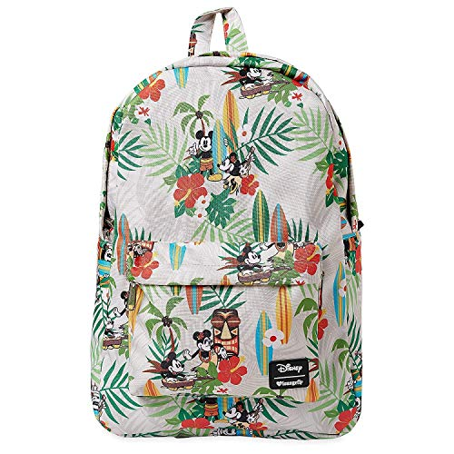 (Loungefly Disney's Mickey & Minnie Mouse Tiki Print Backpack Standard)