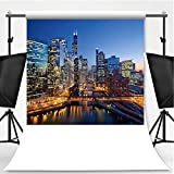 City of Chicago Theme Backdrop Party Photography Background,181731,10x10ft