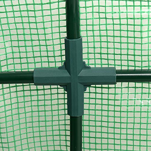 """Sundale Outdoor Portable Gardening Steeple Mini Green House with PE Cover and Zipper Doors, Waterproof Hot Green House, UV Protection, Insect Prevention, 106.3""""(L) x 35.4""""(W) x 35.4""""(H) by Sundale Outdoor (Image #4)"""