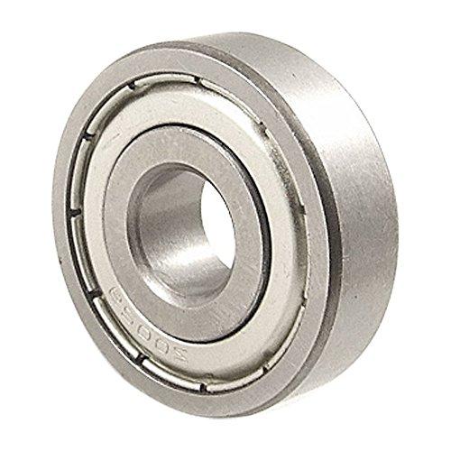 TOOGOO 6200Z 10mm x 30mm x 9mm cojinete de bolas de doble metal 6200Z cojinete de bolas R