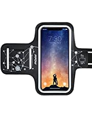 Mpow Running Armband for iPhone XR XS X 8 7 6 6s Samsung Galaxy S9 S8 S7【Up to 6.1''】, Running Phone Armband with Running headphone Slot and Key Slot for Running Exercise, Starry Sky Pattern