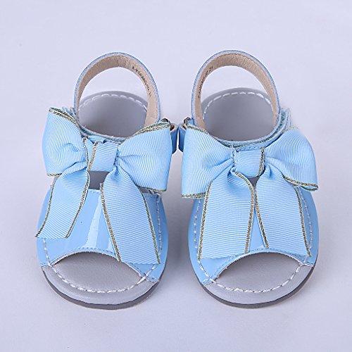 Pettigirl Niñas Zapatos Sandalias De La Boda Del Partido Anti Deslizamiento Princesa Zapatos Prewalker Azul