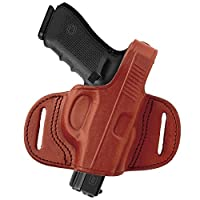 Tagua BH1M-463 Mini Thumb Break Belt Holster, Sig Sauer P238 with Laser, Brown, Left Hand