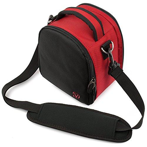 VG Red Laurel DSLR Camera Carrying Bag with Removable Shoulder Strap for Pentax K x Digital SLR Camera