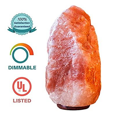 "Himalayan Salt Lamp by Aramatena - Authentic Natural Pink Crystal Rock Natural Air Purifier with Negative Ion Glow Promotes Health | Large 8-11 lbs,7.5-10"" Height 