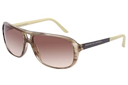f19f432bef Amazon.com  Porsche Design Womens Aviator Sunglasses (Striped Olive ...