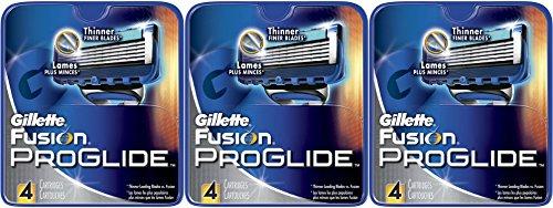 Gillette Fusion ProGlide razor refills, pkg of 12