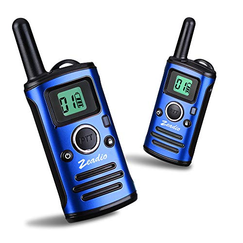 Zeadio Mini Walkie Talkie for Kids, UHF Long Range Handheld Two Way Radio - (Blue, Pair of 1)