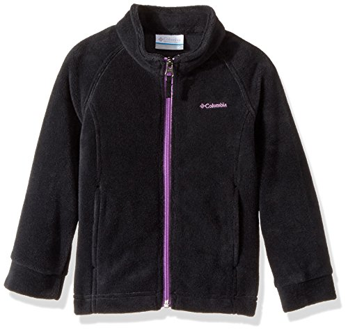 Columbia Girls' Little Benton Springs Fleece Jacket, Black, Crown Jewel, 3T by Columbia