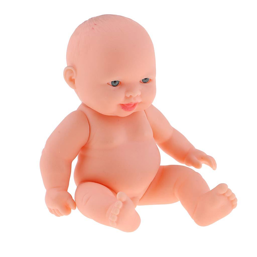 11cm Realistic Baby Boy Doll Vinyl Newborn Infant Simulation Model Kids Gift