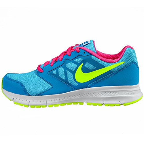 Nike Downshifter 6 (GS/PS) - Zapatillas de running para mujer CLEARWATER/BLUE LAGOON/PINK POW/VOLT
