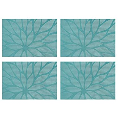 Furnily Dining Placemats Set of 4 Table Mats for Kitchen Dining Table Woven Table Place Mats Heat Resistant,Blue (4, Blue)