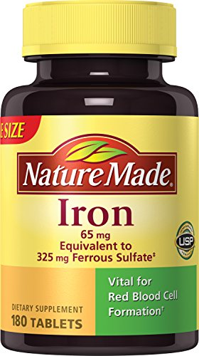 Nature Made Iron 65 mg Tablets 180 ea