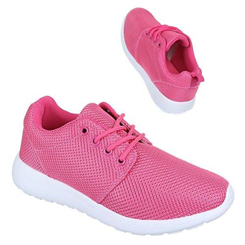 Ital-Design - Zapatillas de Material Sintético para mujer Rosa - Pink Rosa