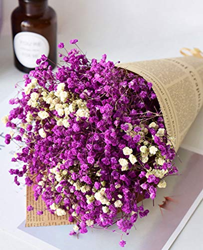 Dried Lavender And Babys Breath Bouquet
