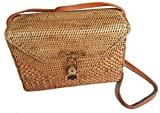 Rattan Nation - Rectangular Woven Rattan Bag, Ata Basket Bag