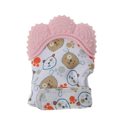 Baby Teething Mitten Glove Candy Wrapper Sound Teether Sucking Fingers Newborn