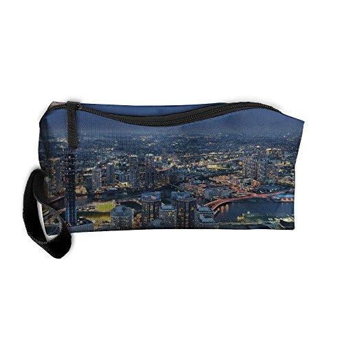 (EWSDa Cool Mt. Fuji Overlooking Yokohama Cosmetic Bag Unisex Multifunctional Receiving Bag )