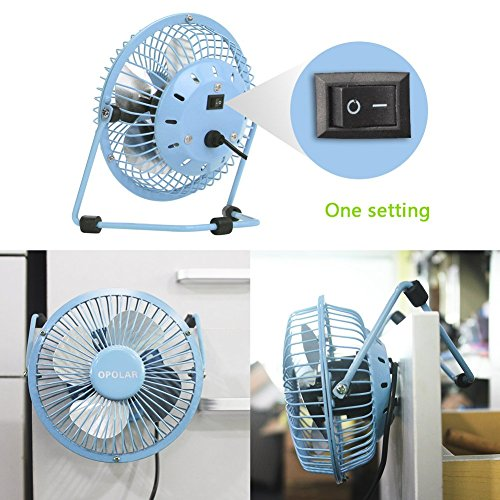 Opolar Mini Usb Desk Fan Usb Powered Metal Design Quiet Operation 3