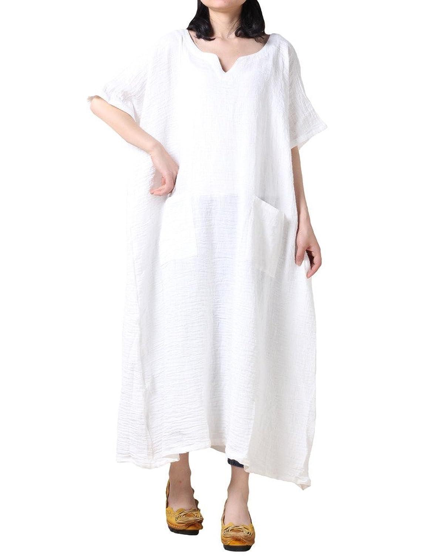 Vogstyle Damen Stickerei Printing Plus Größe Robes Kleid