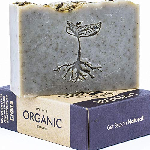 (Lavender Soap - Handmade with Shea Butter & Lavender Essential Oil, All Natural Glycerin Soap Bar Made w/Organic Ingredients, Handcrafted in USA 4.7oz )