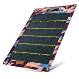 Sulprewopi Solar Phone Charger 7.7W - Flexible Roll Up CIGS Solar Cell Panel For Charging Power Banks, Mobile Phones