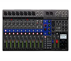 12-channel Digital Mixer with 24-bit/96kHz 12-track Recorder, 5 Monitor Outputs, 3-band EQ, 16 Built-in Effects, and 14-in/4-out USB Audio Interface - Mac/PC/iOS