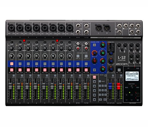 Digital Live Mixer Sound - Zoom LiveTrak L-12