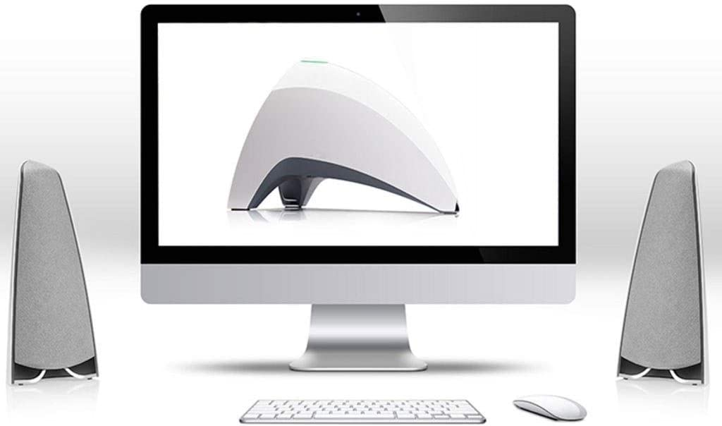 Color : White LEZDPP Bluetooth Speaker Wireless Remote Home Computer Audio Desktop Subwoofer
