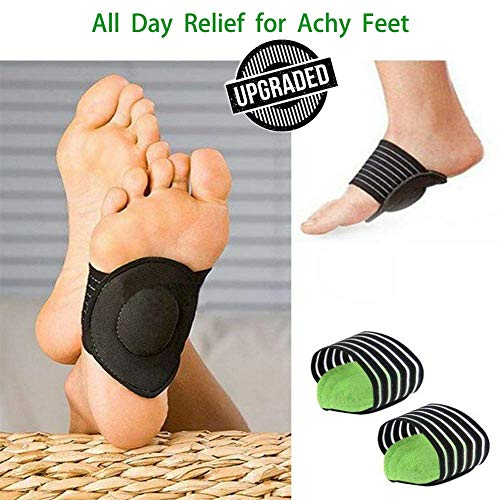 (Arch Support Pad Orthotic Shoe Insert for Flat Foot Pain, Plantar Fasciitis, PTTD, Arch Flatfoot Orthotics Massage Pad Insoles Foot Sleeves)
