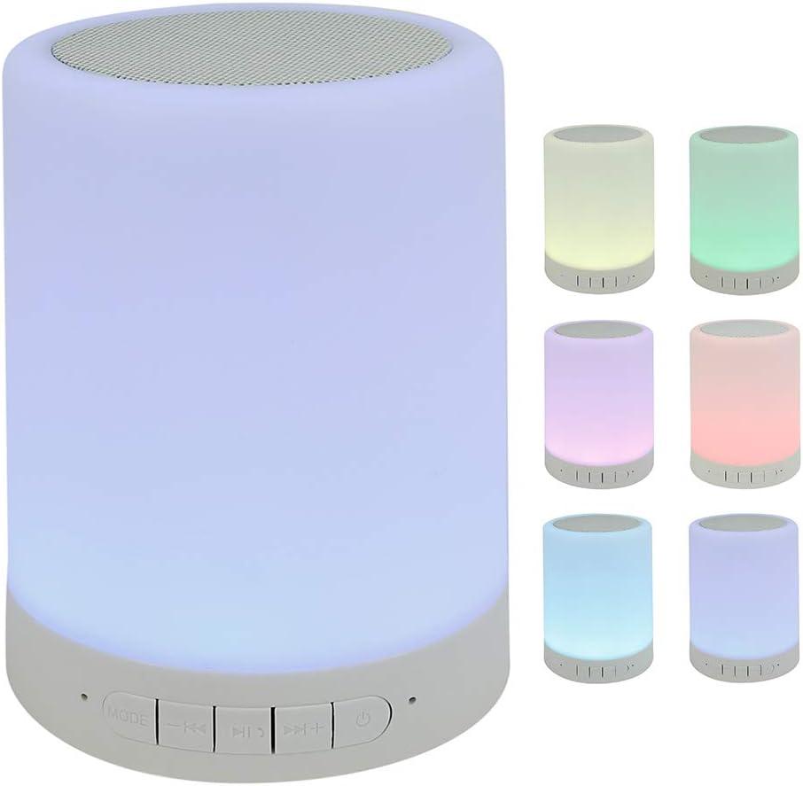 Bluetooth Speaker Lamp,Touch Sensor Night Light Bedside Dimmable Warm White Table Lamp,Gift for Girl Boy Women Men