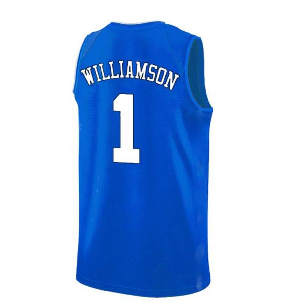 B07WM15M4R Mens Williamson Jersey Duke 1 Jerseys Adult Basketball University Zion Jersey Blue(S-XXL) 515v6C5U1OL