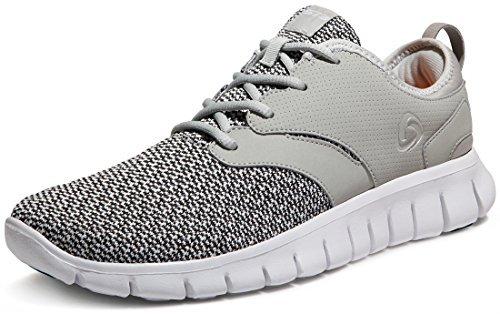Tesla TF-X574-LGR_Men 10.5 D(M) Men's Knit Pattern Sports Running Shoes X574 (True to Size)