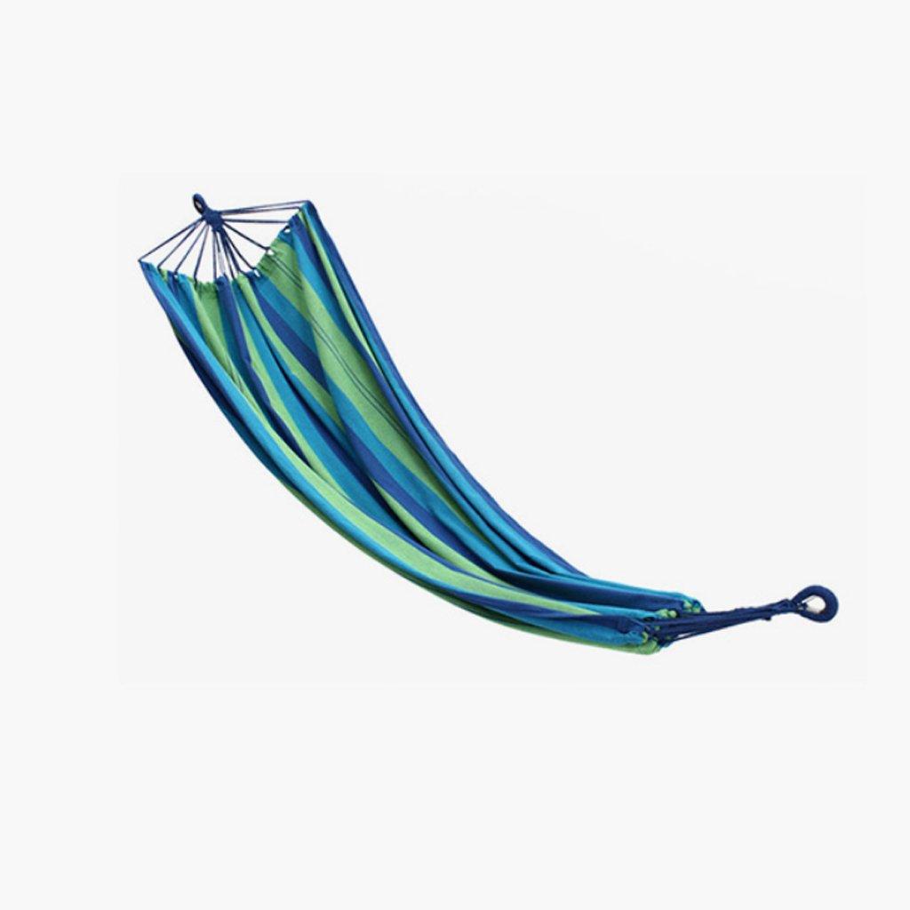 Hängematte Outdoor Hängematte einzigen Person Strand Camping Freizeit Schaukel Hängematte blau Leinwand Hängematte (200  100cm)